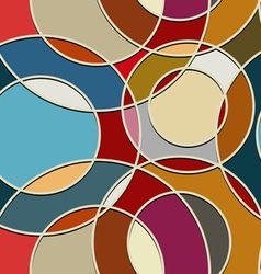 Seamless color texture of circular items vector image