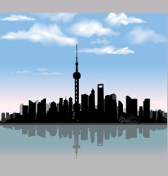 Shanghai city skyline chinese urban landscape vector