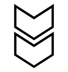 Shift down stroke icon vector