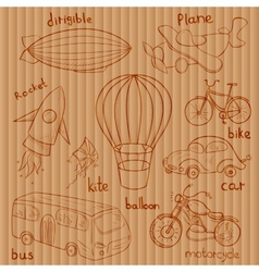 Sketches means of transport vector image vector image