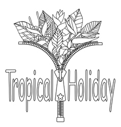 Tropical holiday print vector