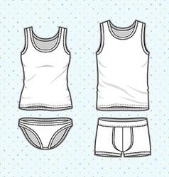 Underwear set vector