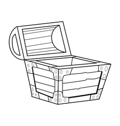 vintage coffer vector image
