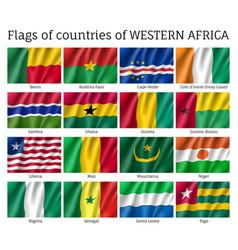 Western africa flag set vector