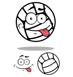 White cartoon volleyball ball vector image