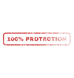 100 percent protection rubber stamp vector