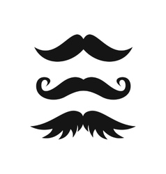 Moustaches icon in simple style vector