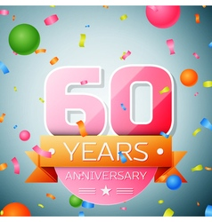 Sixty years anniversary celebration background vector image