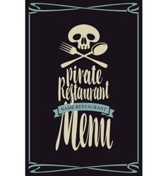 menus for pirate restaurants vector image