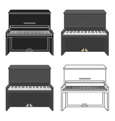 Piano icon in cartoon style isolated on white vector