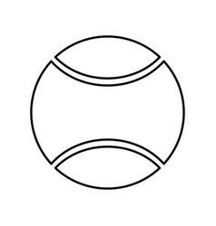 Tennis ball black color icon vector