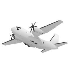 Military transport cargo aircraft vector