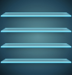 Aqua glass shelves vector