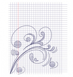 note paper with floral ornament vector image