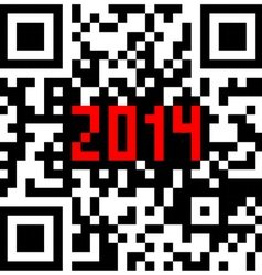 2014 New Year counter QR code vector image vector image