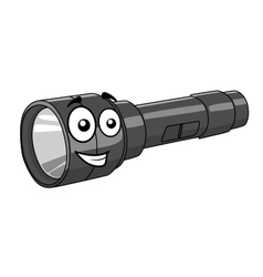 Cartoon torch with a happy smile vector image