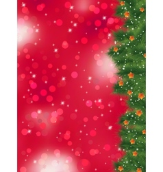 Thank you card on a bright christmas EPS 8 vector image