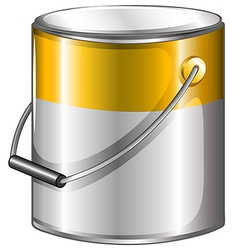A yellow paint vector