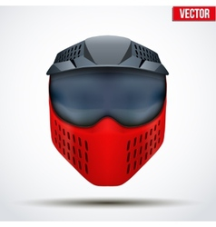 Paintball mask with goggles original design vector