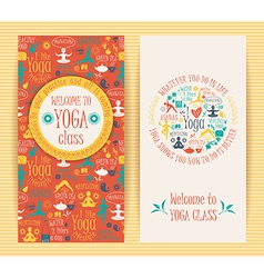 Flyers for yoga class vector