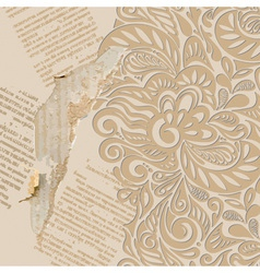Shabby vintage wallpaper background vector