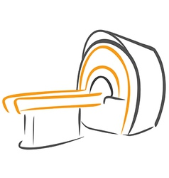 Ct scanner sketch vector