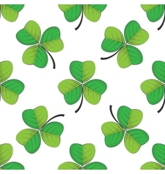 Seamless retro pattern shamrock vector
