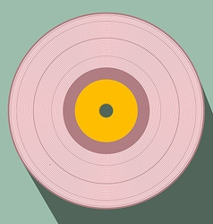 Flat design retro vinyl record vector