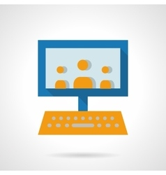 E-learning audience flat icon vector