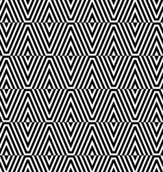 Black and white striped diamonds split vector