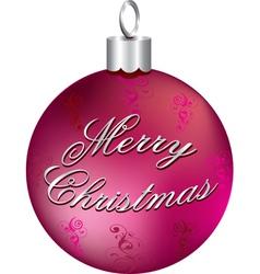silver merry christmas vector image
