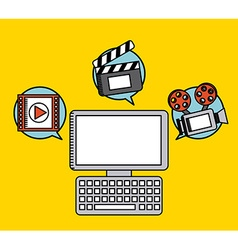 Movie entertainment design vector