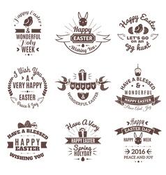 Easter emblem set vector image