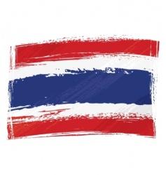 Grunge thailand flag vector