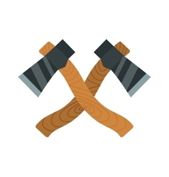 Two axes timber lumberjack tools for chopping wood vector