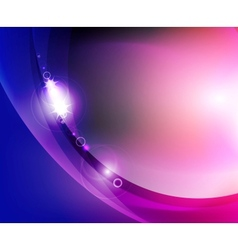 Shiny wave abstract background vector