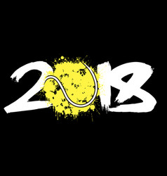 abstract number 2018 and tennis ball vector image