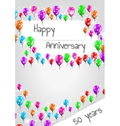 Anniversary poster 50 years vector