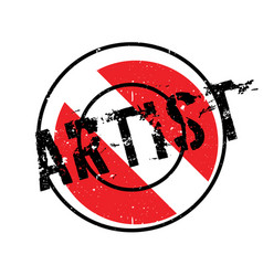 artist rubber stamp vector image