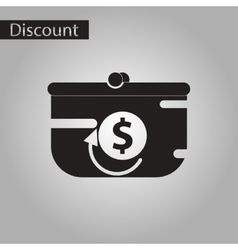 Black and white style icon purse discount vector