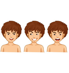 boy in three emotions vector image