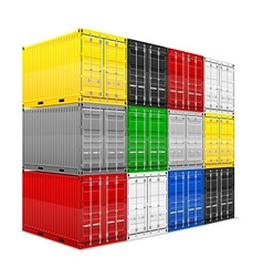cargo container 015 vector image vector image