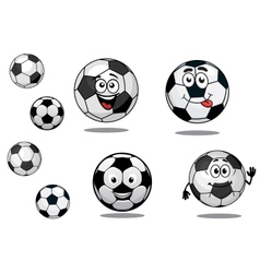 Cartoon soccer or football balls vector