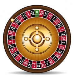 casino roulette vector image vector image