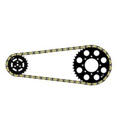 chain drive vector image