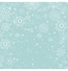 cristmas invitation card with snowflake vector image vector image