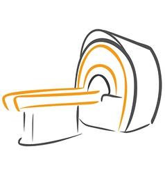 Ct scanner sketch vector