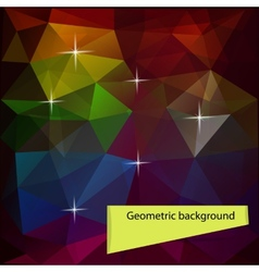 Dark colored polygon geometric background vector image vector image