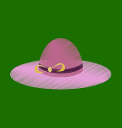 flat shading style icon women hat vector image vector image