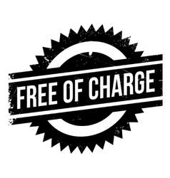 Free of charge stamp vector image